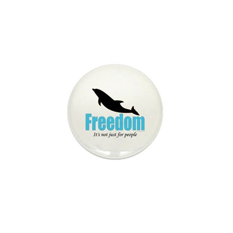 Dolphin Freedom Mini Button (100 pack)