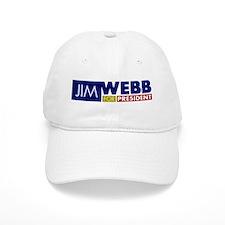 Jim Webb for President Baseball Cap
