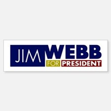 Jim Webb for President Bumper Bumper Sticker