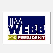 Jim Webb for President Postcards (Package of 8)