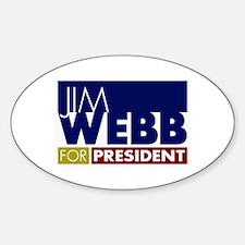Jim Webb for President Sticker (Oval)