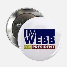 """Jim Webb for President 2.25"""" Button"""