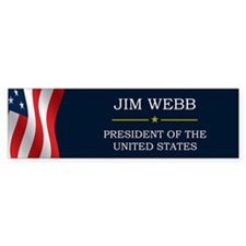 Jim Webb for President V3 Bumper Sticker