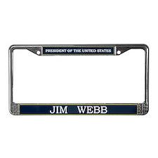 Jim Webb for President V3 License Plate Frame