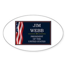 Jim Webb for President V3 Decal