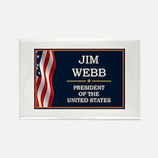 Jim Webb for President V3 Rectangle Magnet