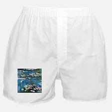 Waterlilies by Claude Monet, Vintage Boxer Shorts