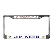 Jim Webb for President USA License Plate Frame