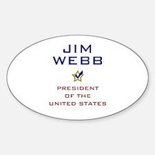 Jim Webb for President USA Sticker (Oval)