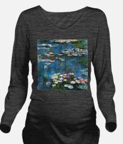 Waterlilies by Claud Long Sleeve Maternity T-Shirt