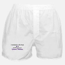 God Gave Me A Spinone Italiano Boxer Shorts