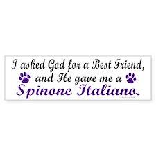 God Gave Me A Spinone Italiano Bumper Bumper Sticker