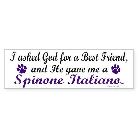 God Gave Me A Spinone Italiano Bumper Sticker
