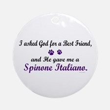 God Gave Me A Spinone Italiano Ornament (Round)