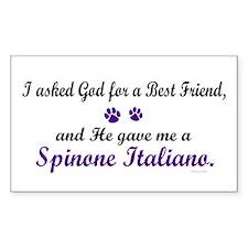God Gave Me A Spinone Italiano Sticker (Rectangula