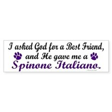 God Gave Me A Spinone Italiano Bumper Bumper Sticker