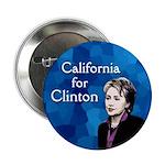 Ten California for Clinton buttons