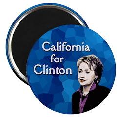 Californa for Hillary Clinton Magnet