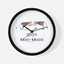 Goth Moo-Moos Wall Clock