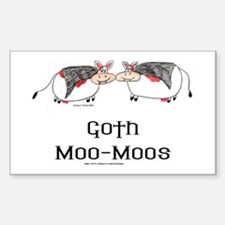 Goth Moo-Moos Rectangle Decal