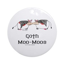 Goth Moo-Moos Ornament (Round)