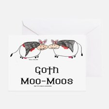 Goth Moo-Moos Greeting Card