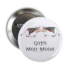 Goth Moo-Moos Button