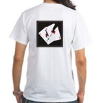 Cracked Aces White T-Shirt