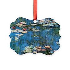 Waterlilies by Claude Monet, Vint Picture Ornament