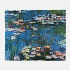 Waterlilies by Claude Monet, Vintage Throw Blanket