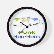Punk Moo-Moos Wall Clock