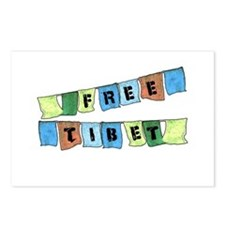 Free Tibet Prayer Flags Postcards (Package of 8)