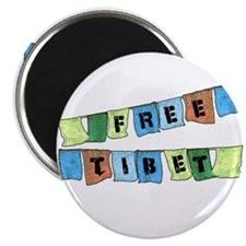 Free Tibet Prayer Flags Magnet