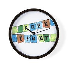 Free Tibet Prayer Flags Wall Clock