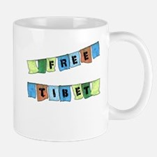Free Tibet Prayer Flags Mug