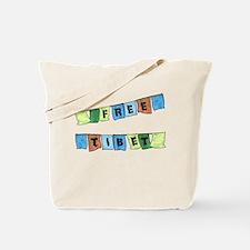 Free Tibet Prayer Flags Tote Bag