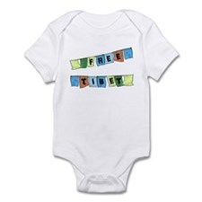 Free Tibet Prayer Flags Infant Bodysuit