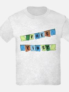 Free Tibet Prayer Flags T-Shirt