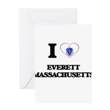 I love Everett Massachusetts Greeting Cards