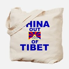 China Out of Tibet Tote Bag