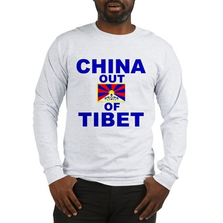 China Out of Tibet Long Sleeve T-Shirt