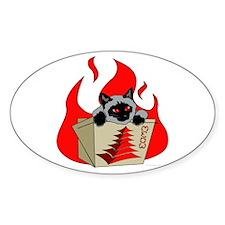 China Kitty Logo Oval Decal