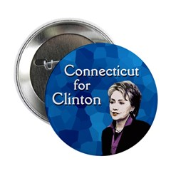 Ten Connecticut for Clinton buttons