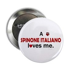 """A Spinone Italiano Loves Me 2.25"""" Button (10 pack)"""