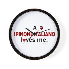 A Spinone Italiano Loves Me Wall Clock