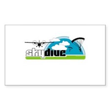 Skydive Dropzone Paradise Rectangle Decal