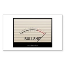 Bullshit Meter1 Rectangle Decal