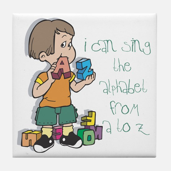 Singing My ABC's Tile Coaster
