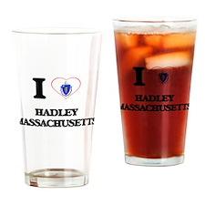 I love Hadley Massachusetts Drinking Glass