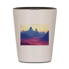 Mountains of Another World Shot Glass